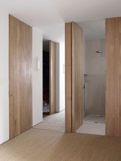 Floor to ceiling wood doors