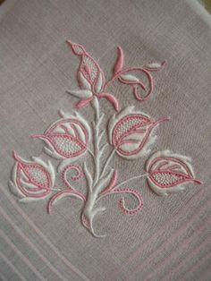 Pink and White Motif