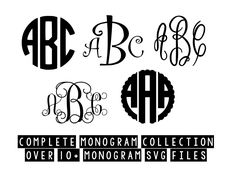 Curly monogram round monogram scalloped monogram Svg, Cricut Cut Files, Silhouette Cut Files This listing is for an INSTANT DOWNLOAD. You can easily create your own projects. Can be used with the silhouette cutting machines or other machines that accept SVG. It includes 1 zip folders 1. svg, dxf and