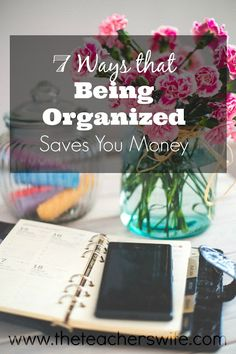 There are so many benefits to being organized - less stress, less chaos, neater home, etc.  But have you considered the financial impact?  Here are some of the ways that being organized can actually save you money!