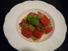 angel hair with meat sauce