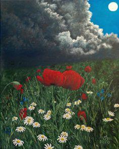 Summer night. 50×40 cm, acrylic, str. canvas Summer Nights, Canvas, Painting, Art, Tela, Art Background, Painting Art, Kunst, Canvases