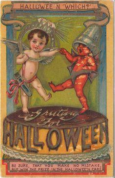 Very Rare Vintage Halloween Postcard - I. S. E. | eBay