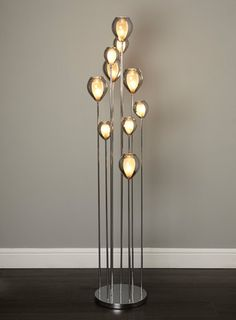 Uma floor lamp Unusual Floor Lamps, Modern Floor Lamps, Bhs Lighting, Home Lighting, Vintage Light Bulbs, Vintage Lighting, Large Floor Lamp, Glass Roof, Conservatory Ideas
