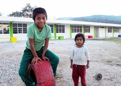 Caring Hands - Chiapas, Mexico children in the school yard