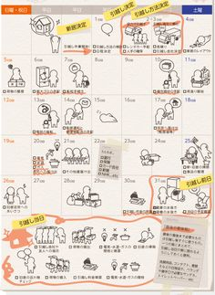 引越し準備カレンダー:新居決定から引っ越し当日まで Sketch Journal, Room Planning, My Room, Housekeeping, Good To Know, Life Hacks, Calendar, Knowledge, Ideal Home