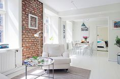 Brick feature wall - embrace brick, I can only hope our home has some!