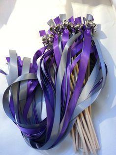 100  Ribbon Wedding Bell Wands    Ribbon Wands  by DivinityBraid