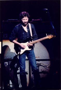 Eric Clapton performs on stage at  the Hammersmith Odeon on May 15, 1980 in London, England. Photo by Peter Still