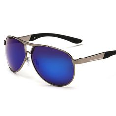 blue sliver lens metal frame sunglasses polarized driver men women wholesale alibaba jf8005-1