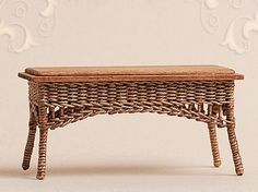 rectangular wicker table (for the conservatory/ orangery?)