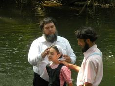 New Order/ Evangelical Amish; baptism by immersion
