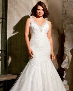 flare plus size wedding gown