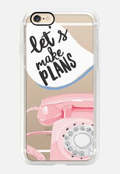 Casetify iPhone 7 Case and Other iPhone Covers - Let's Make Plans by Caroline Frierson | #Casetify