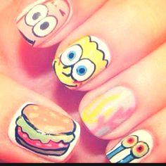 gotta love spongebob nails  :)