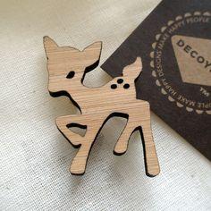 #broche #bambi #wood #pin #fawn