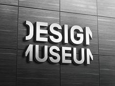 Design Museum Entrance Signage by Robert Hunt