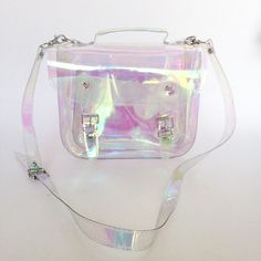 Bag #3 Small Clear Holographic plastic satchel