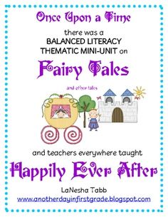 I {LOVE} teaching fairy tales. The kids are SO intrigued by the stories I read aloud. The books are rich and the conversations are deep. This uni...