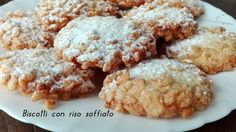 Biscotti con riso soffiato, biscotti facili da preparare, golosi e croccanti, buoni per una merenda e per uno spuntino goloso.