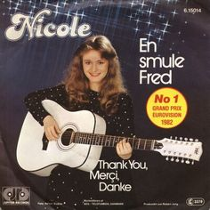 """Nicole - """"En smule Fred"""", danish version of """"Ein bisschen Frieden"""", the winning song of the Eurovision Song Contest 1982 from Germany"""