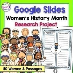 Teach your students the report writing process using Google Slides. Use graphic organizers to research information & write in expository or informative writing formats. Learn about Women's History Month with this writing project. Biography reading passages are included for the influential women.