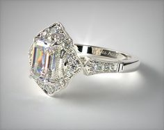 Design your own engagement ring with loose diamonds, fancy colored diamonds or gemstones in HD. See preset engagement rings, wedding rings and diamond jewelry. Classic Wedding Rings, Elegant Engagement Rings, Gemstone Engagement Rings, Engagement Ring Styles, Antique Engagement Rings, Designer Engagement Rings, Dream Wedding, Wedding Dreams, Wedding Stuff