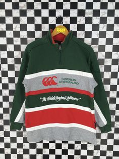CANTERBURY Rugby Sweater Small Vintage 90's Canterbury Of New Zealand All Blacks Rugby Football Multicolor Sweatshirt Pullover Size S by JunkDeluxeRetro on Etsy