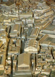 Fòrum de Roma, (maqueta), Museo della Civiltà Romana, Roma    Roman Forum, Reconstruction of the imperial Rome (A.D. 4th c.), by Italo Gismondi (1935-1971), Museo della Civiltà Romana, Rome.