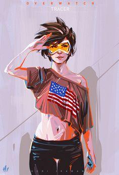 Overwatch - Tracer, Heri Irawan on ArtStation at https://www.artstation.com/artwork/ylq2Q