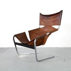 Mid Century Leather Lounge Chair 444 by #PierrePaulin - Artifort | Leder Sessel