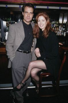 Dana Delany and Henry Czerny at a private event in New York City in January 1995...