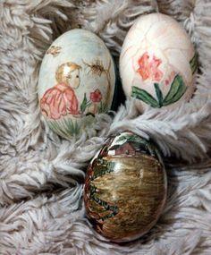Vintage Painted Eggs