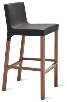 Blu Dot Knicker Barstool, Black contemporary bar stools and counter stools