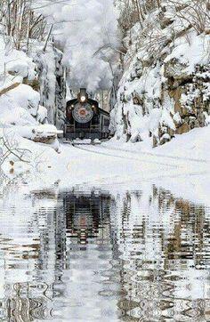 Locomotive Winterscape