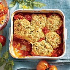 Savory Tomato Pie Recipes: Savory Tomato Cobbler Recipe