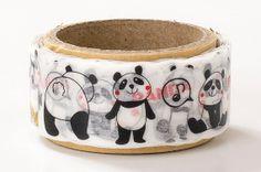 Panda - Prime Nakamura / Decogata Series - Japanese Die Cut Washi Masking Tape - Kawaii Collage, Gift Wrapping - JapanLovelyCrafts