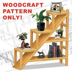 Woodworking Patterns Staircase Shelving Unit Pattern This stylish bookshelf will compliment any home. x x Parts Req'd: Wooden Plugs Pattern Woodworking Patterns, Woodworking Projects, Woodworking Videos, Woodworking Furniture, Teds Woodworking, Woodworking Machinery, Woodworking Workshop, Woodworking Classes, Custom Woodworking