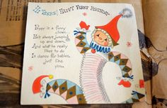 Vintage Baby's First Birthday Card by AmyFindsEverything on Etsy