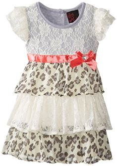 Girls Rule Little Girls' Tiered Printed Lace Dress, Ivory, 1 piece. Cotton and polyester. Toddler Girl Style, Everyday Dresses, Fashion Prints, 1 Piece, Lace Dress, Little Girls, Kids Fashion, Girl Outfits, Girls Dresses