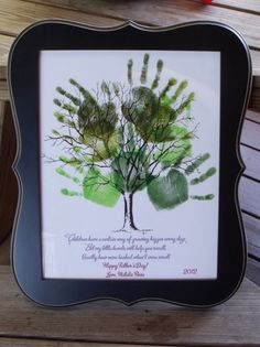 Father's Day Handprint Collage from Nurturing Naters  - Fathers Day DIY Ideas for Living Creative Thursday on LivingLocurto.com #livingcreative