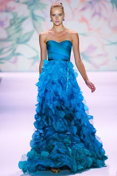 blue gown from Monique Lhuillier RTW S/S 2011