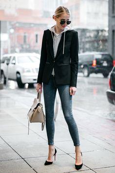 Veronica Beard Scuba Jacket Topshop Skinny Jeans Black Christian Louboutin Pumps Celine Mini Belt Bag Fashion Jackson Dallas Blogger Fashion Blogger Street Style