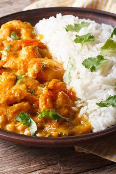 Fragrant shrimp curry - www. Greek Recipes, Asian Recipes, Ethnic Recipes, Curry Shrimp, Fish And Seafood, Main Dishes, Easy Meals, Food And Drink, Cooking Recipes