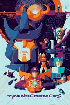 Poster de la peli animada;Transformer G1 año 1986