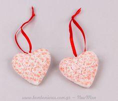 Καρδιά τριαντάφυλλα ροζ | bombonieres.com.gr
