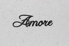 Amore Italian Word for Love Metal Wall Art Home Decor