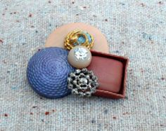 PASTELS Button Brooch