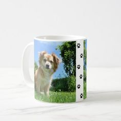 Cute Puppy in Garden Coffee Mug - photographer gifts business diy cyo personalize unique Online Pet Supplies, Dog Supplies, Small Puppies, Cute Puppies, Pomsky Puppies, Garden Coffee, Photographer Gifts, Cute Animal Photos, White Dogs
