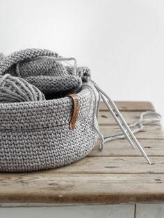 DIY | Anleitung Körbchen im Strickstich häkeln - mxliving
